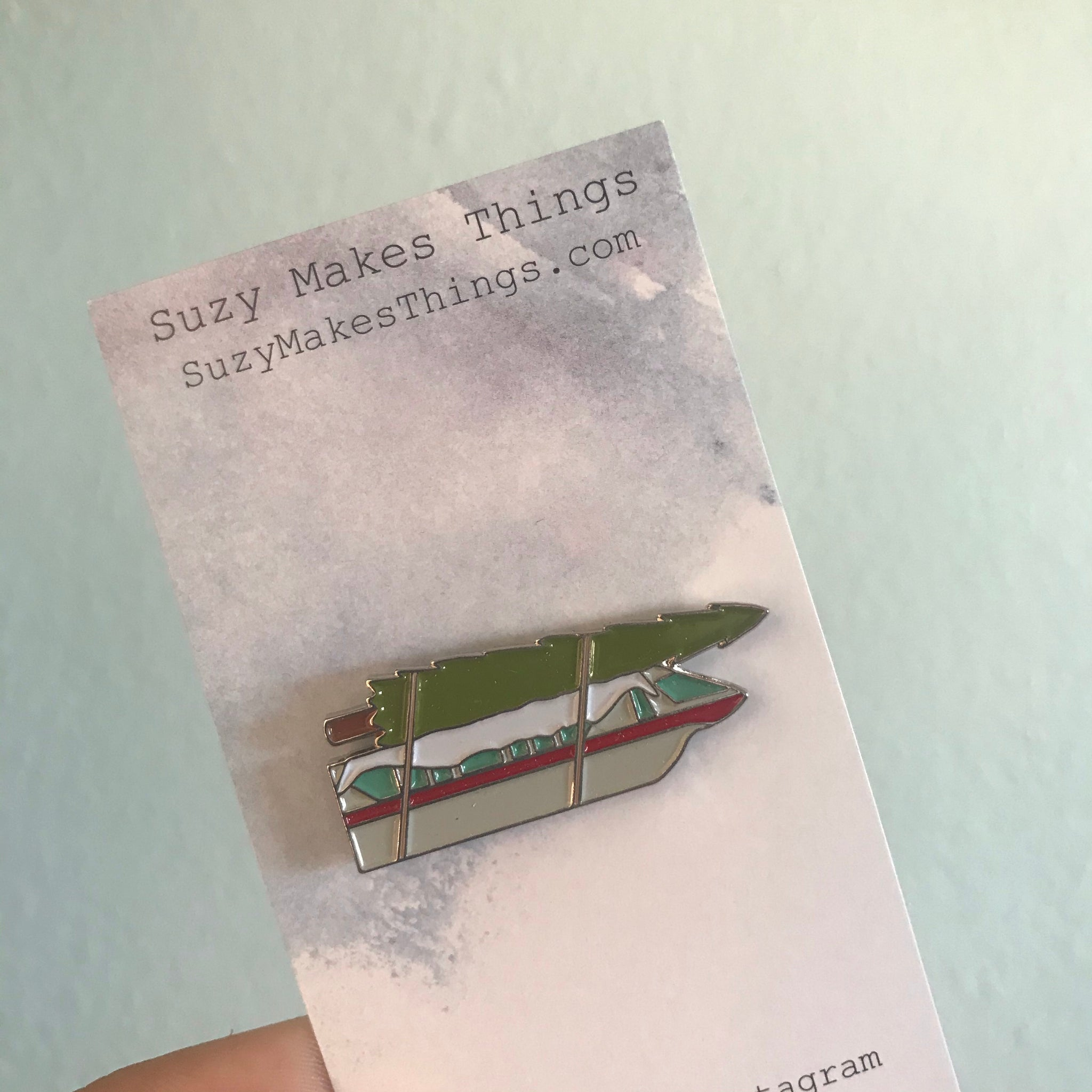 Home for the Holidays Christmas Tree Monorail Pin