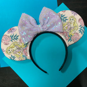 Tangled || Rapunzel || Princess Floral || Flower and Garden Mouse Ears