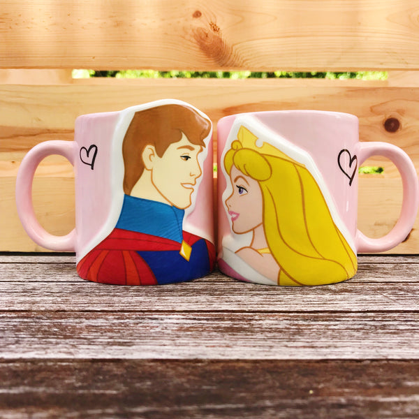 Aurora and Prince Phillip Couples Mugs
