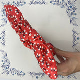 Red Floral Bow Knot Headband