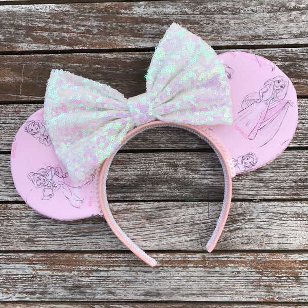 Pretty in Pink Princess Mouse Ears