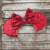 Red All Over Sequin Mouse Ears