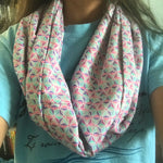 Pastel Spaceship Earth Infinity Scarf