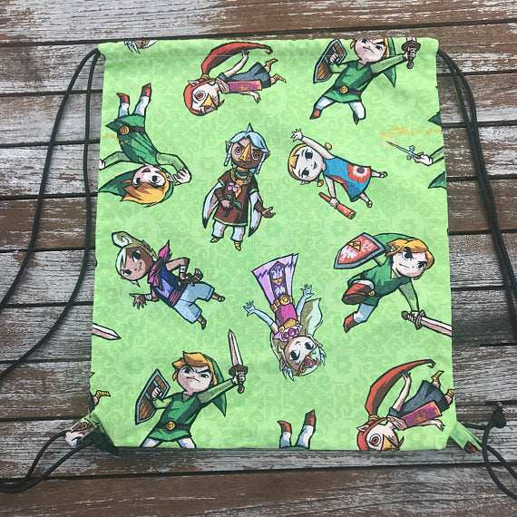 Legend of Zelda Drawstring Bag
