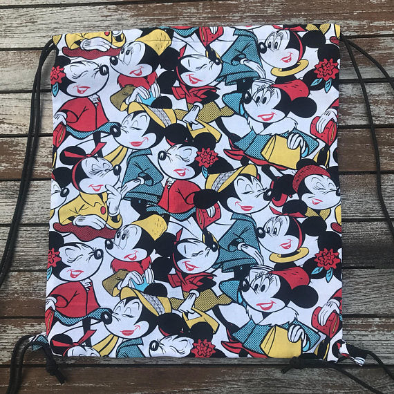 Fashion Minnie All Over Print Drawstring Bag