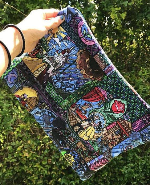 Stained Glass Beauty and the Beast Large Makeup Bag