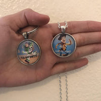 Toy Story || To Infinity and Beyond Friendship Necklaces/Keychains