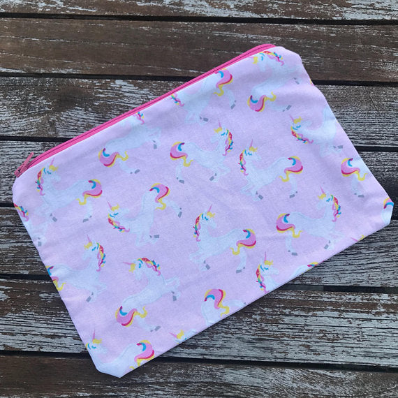 Pastel Unicorn Small Makeup Bag