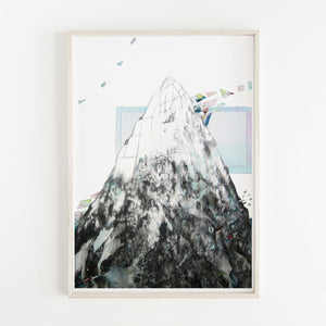 Print of a Mountain based on Milford Sound by Irish Visual Artist Deirdre Byrne