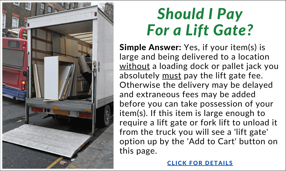 Do I need to pay for a lift gate?