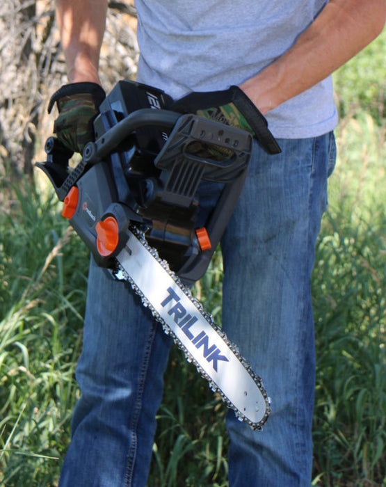"Redback 18"" 120-Volt Lithium-Ion Cordless Chainsaw (106493) at Log Splitter HQ"