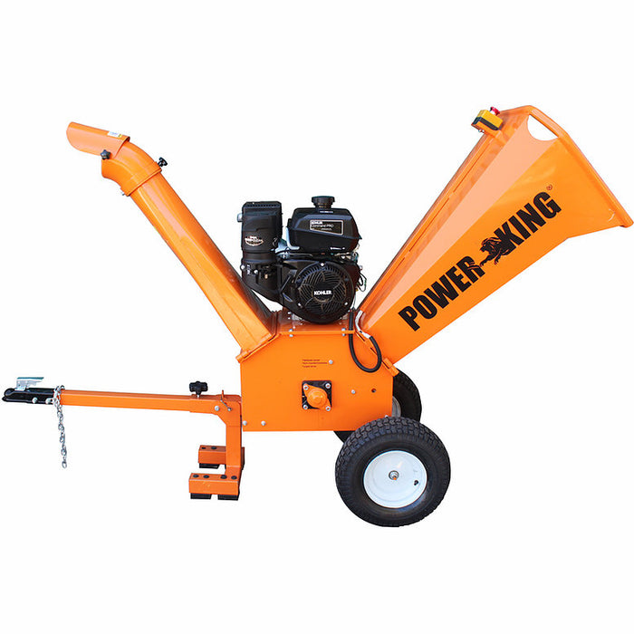 "PowerKing 4"" 9.5HP Kohler Tow-Behind Wood Chipper Shredder (PK0903)"