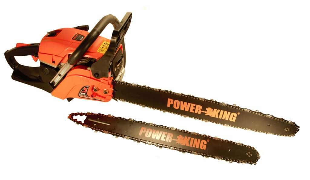 "PowerKing Gas Chainsaw 16"" & 20"" Combination 45cc (PK451620) at Log Splitter HQ"