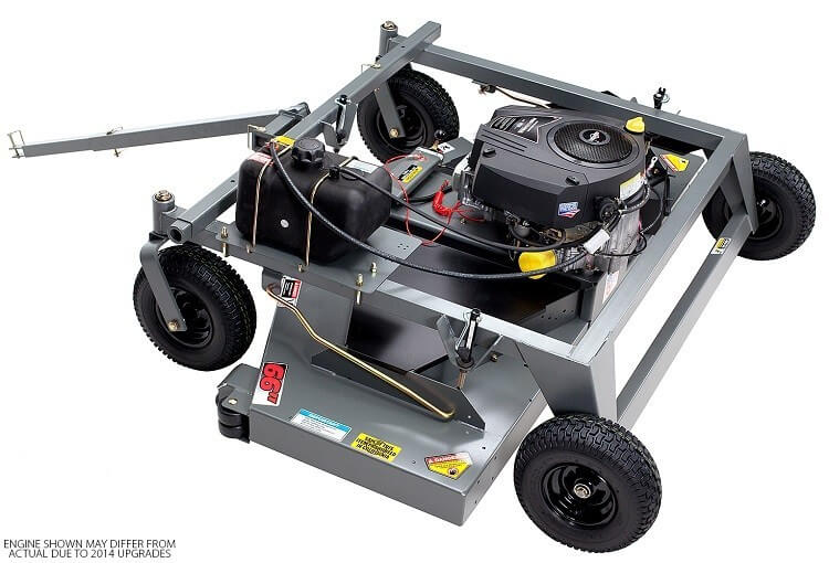 Swisher 66 Inch Finish Cut Pull Behind Mower Electric Start (FC14566CPKA) at Wood Splitter Direct