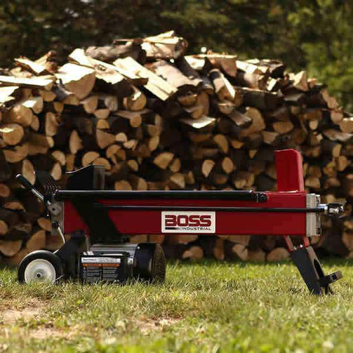 Boss Industrial 5-Ton Electric Log Splitter (1.8 HP, 14-Second Cycle) at Wood Splitter Direct