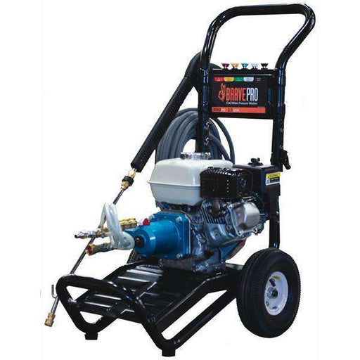 BravePro 3000 PSI Pressure Washer Honda GX160 (BRP2530HCA) at Log Splitter HQ