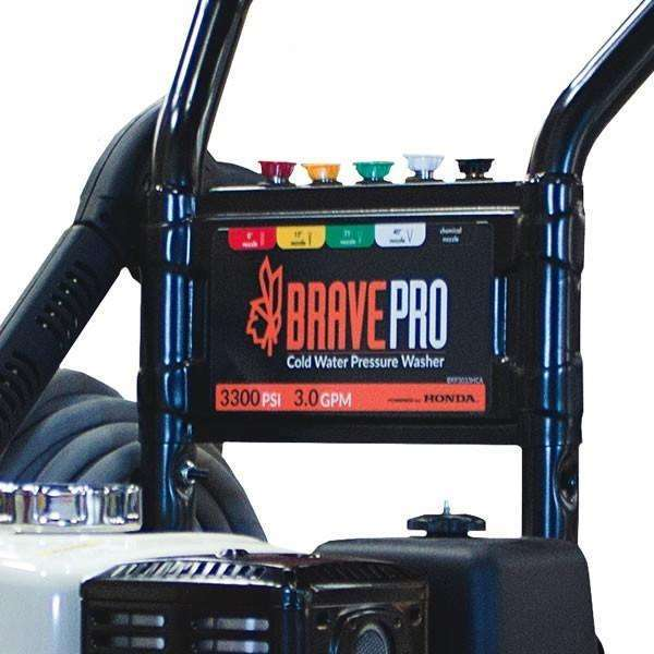 BravePro 3300 PSI Pressure Washer Honda GX270 (BRP3033HCA) at Log Splitter HQ
