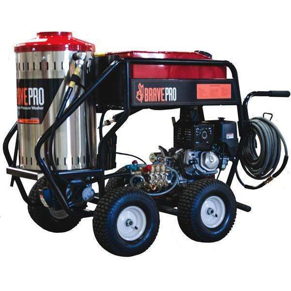 BravePro Hot Water Pressure Washer 3000 PSI Honda GX (BRP4030HCA) at Log Splitter HQ
