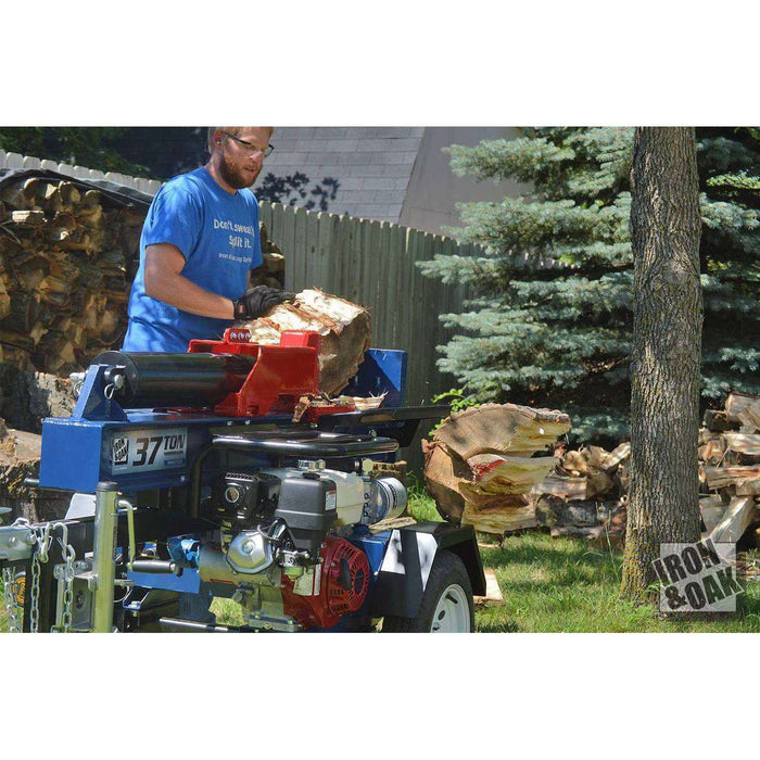 Iron & Oak 37-Ton Gas Log Splitter (BHVH3716GX) at Log Splitter HQ