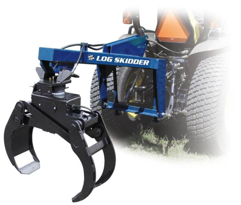 Iron & Oak 3-Point Tractor Mount Skidder Loader Grapple (SB-06) at Log Splitter HQ