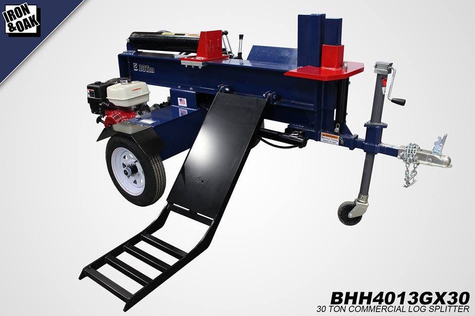 Iron and Oak 30 Ton Log Splitter With Log Lift (BHH4013GX30) at Log Splitter HQ