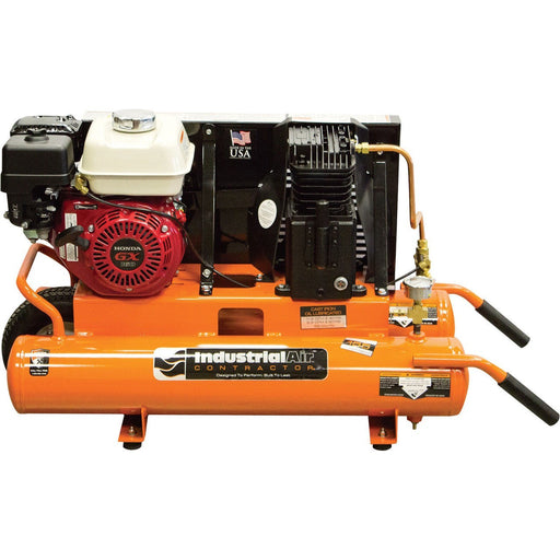 Industrial Air Contractor 8 Gal Wheelbarrow Air Compressor (CTA5590856.SAN) at Log Splitter HQ