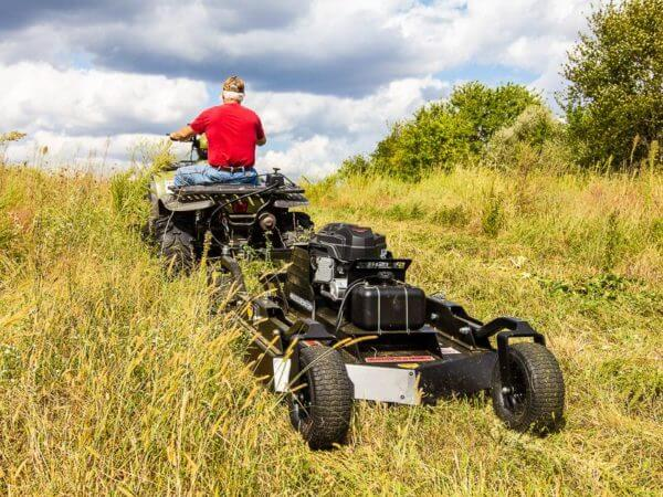 Swisher 44 Inch Commercial Pro 14.5 hp Electric Start Rough Cut Tow Behind Trail Cutter (RC14544CP4K) at Log Splitter HQ