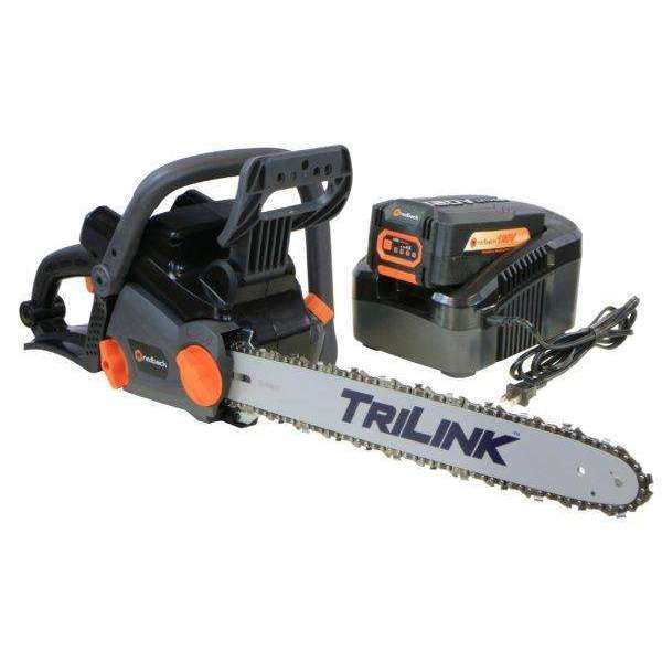 Redback 18″ 120-Volt Lithium-Ion Cordless Chainsaw at Log Splitter HQ