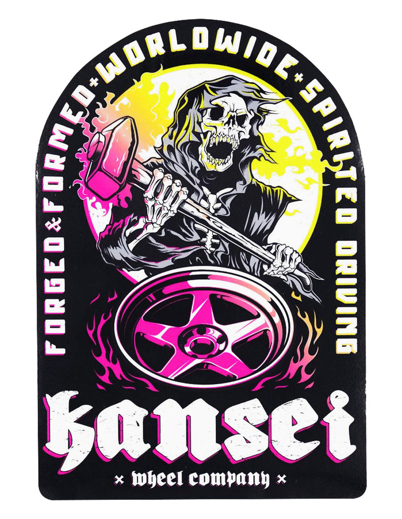 Kansei Wheels Reaper Sticker