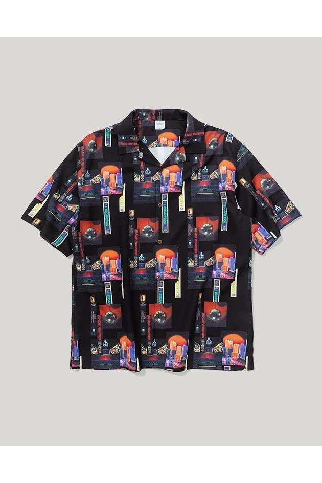 Digital City Print Short Sleeved Shirt - SKYCLUB