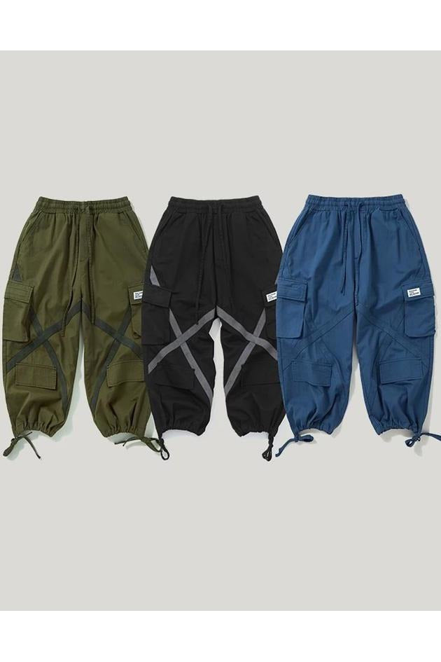 Cargo Side Pocket Baggy Tactical Ankle Length Pants - SKYCLUB
