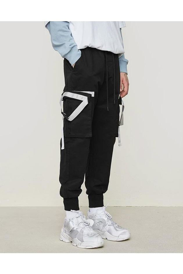 Side Tape Design High Street Cargo Pants - SKYCLUB