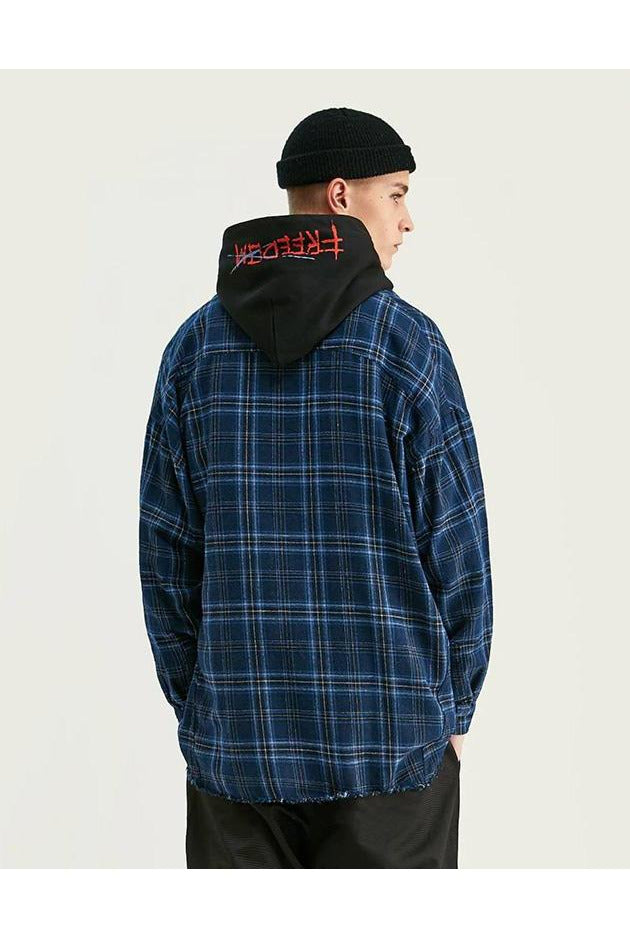 Long Sleeve Plaid Check Flannel Shirt - SKYCLUB