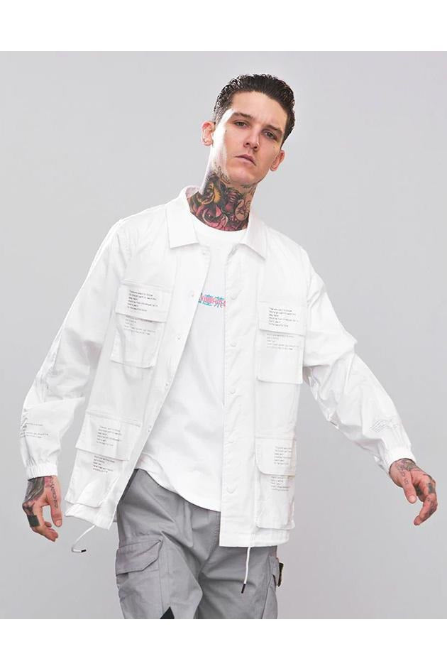 Multi-pocket Windbreaker Shirt - SKYCLUB