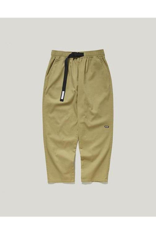 Straight Cotton Trousers Waist Belt Pants - SKYCLUB