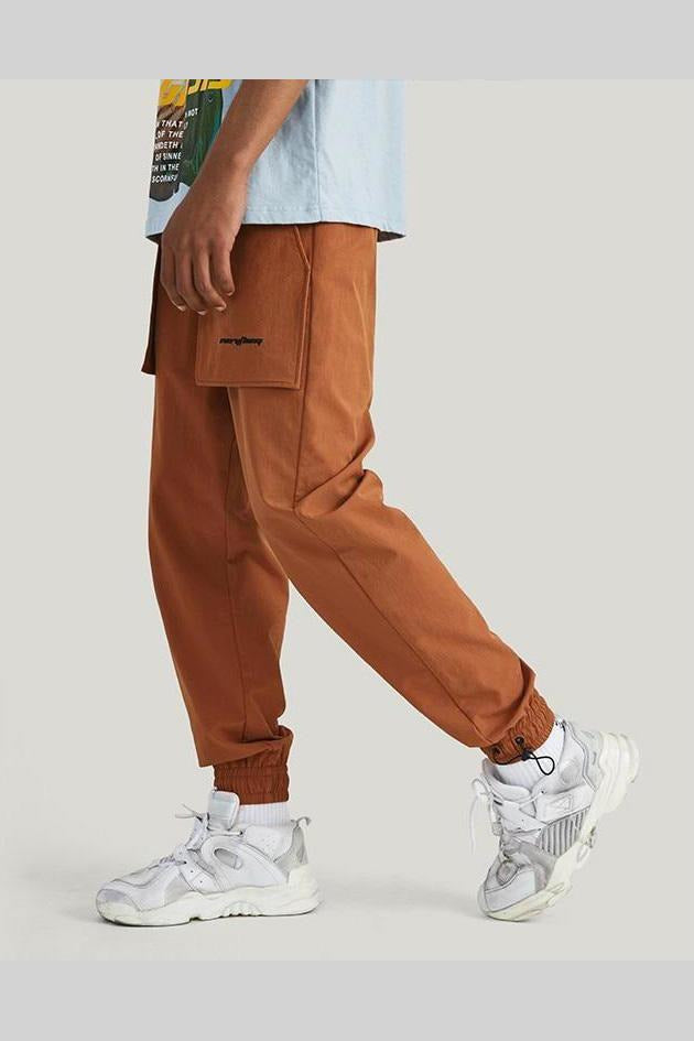 Windbreaker Cargo Loose Straight Trousers Solid Pants - SKYCLUB