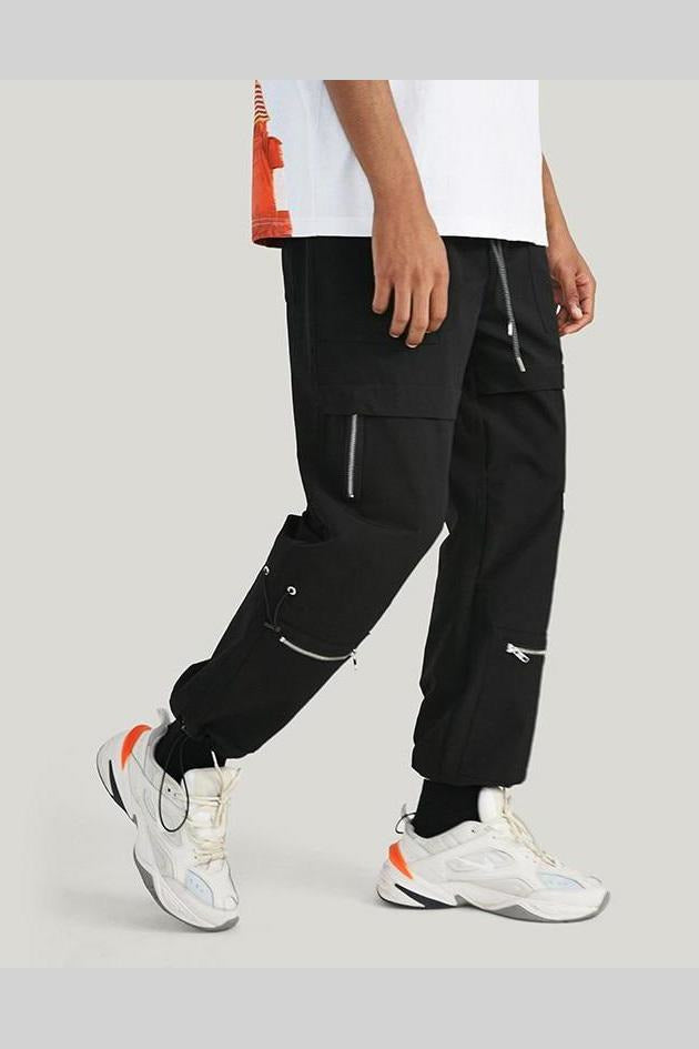 Windbreaker Jogger  Faker Zipper Drawstring Pants - SKYCLUB