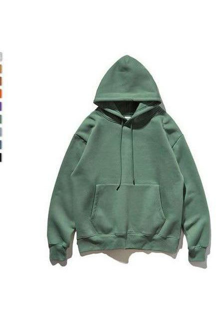 Classic Thick Fleece Solid Color Pure Hoodie - SKYCLUB