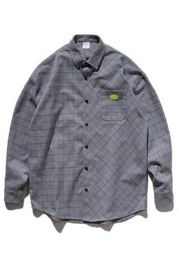 Highstreet Plaid Streetwear Long Sleeve Shirt - SKYCLUB