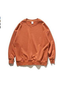 Streetwear Basic O-Neck Cotton Sweatshirt - SKYCLUB
