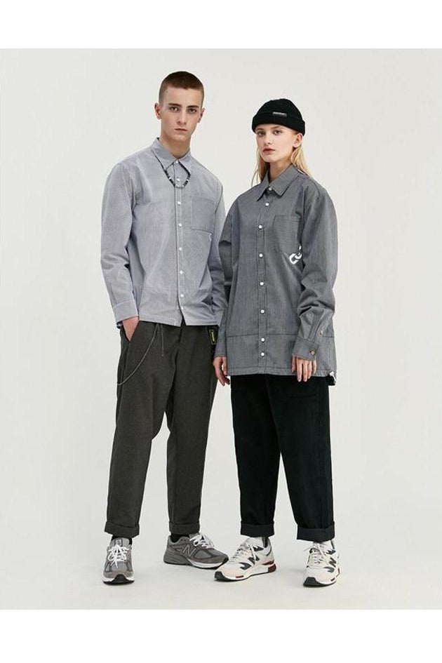 Long Sleeve Drawstring Hem Shirt - SKYCLUB