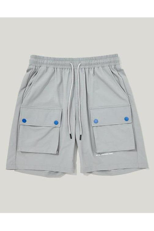 Solid Multi-pocket Loose Cargo Shorts - SKYCLUB