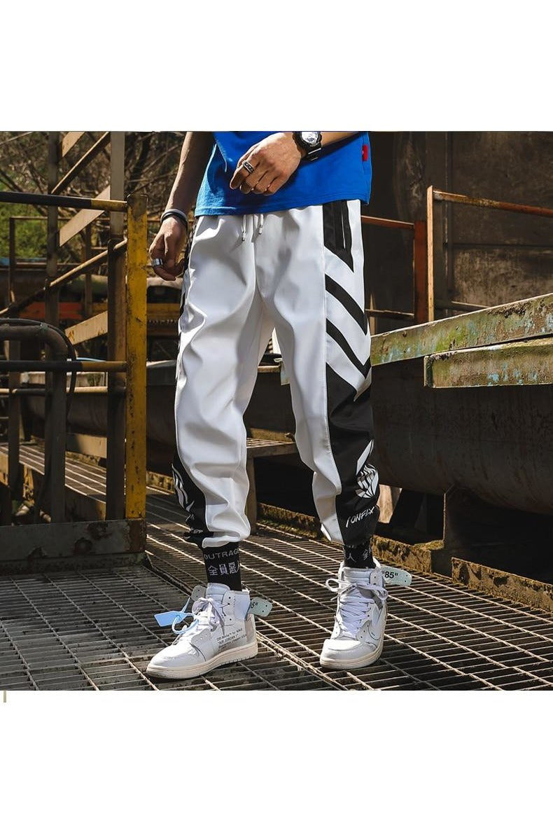 Chevron Angle Trim Dual Color Joggers Pants - SKYCLUB