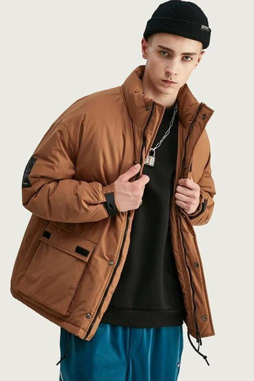 Winter Parka Jacket Solid Color - SKYCLUB