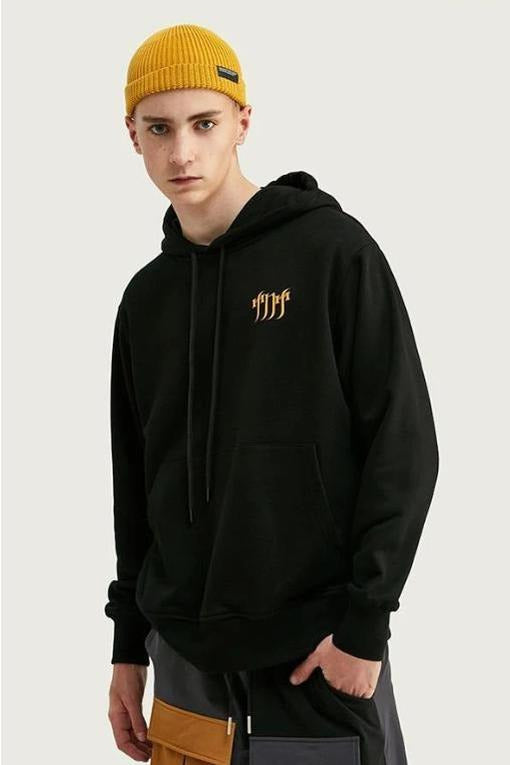 Men Oversized Hoodies With Children Back Print - SKYCLUB