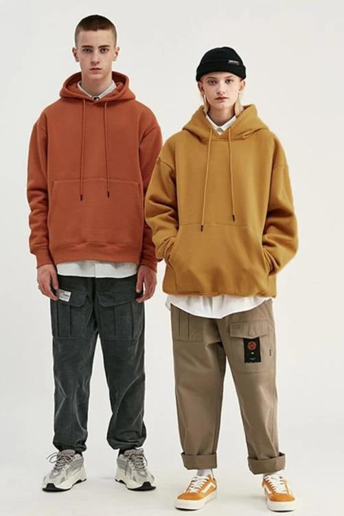 Autumn Mens Thick Fleece Hoodies - SKYCLUB