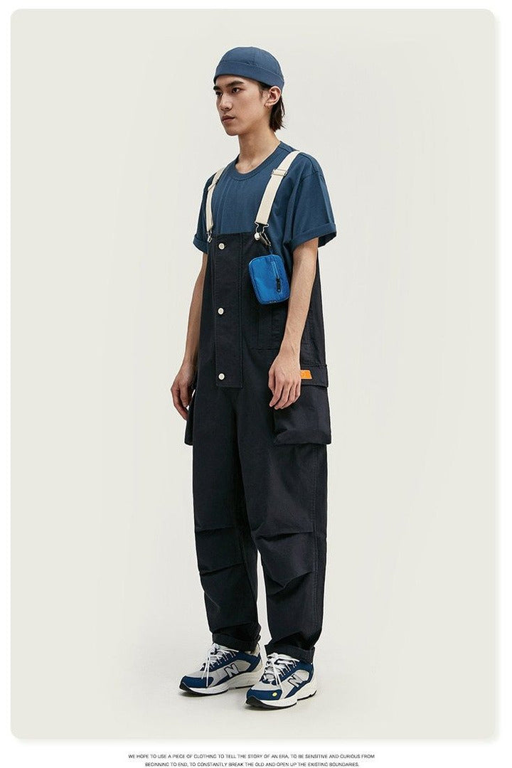 Broadcloth Loose Fit Casual Overalls