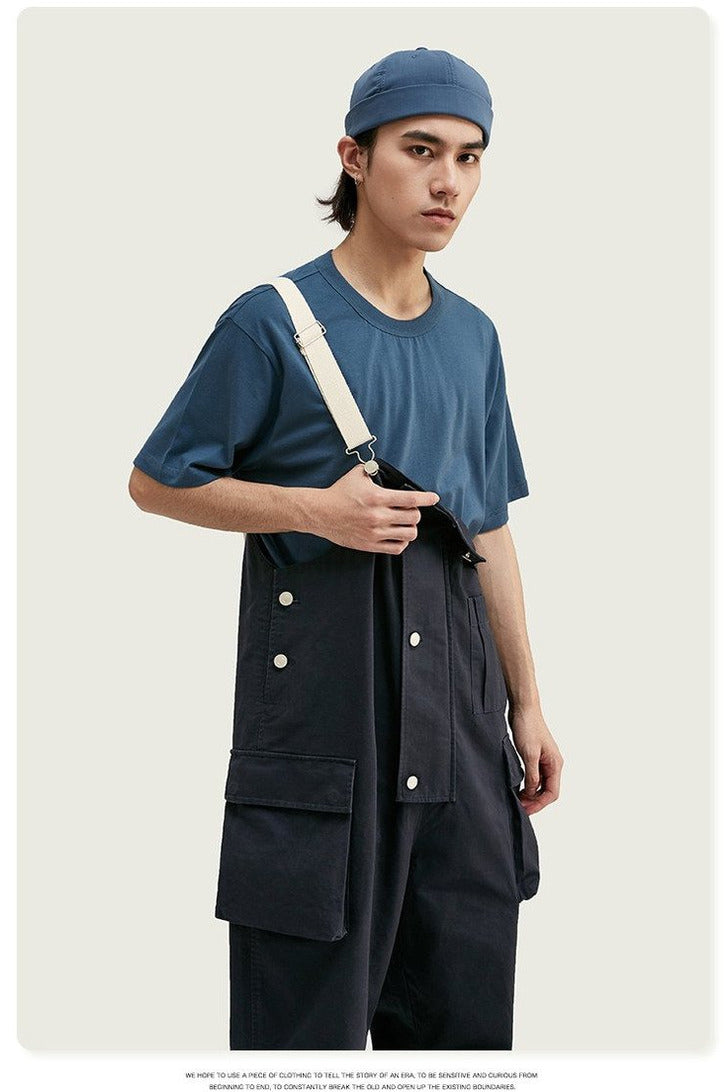 Broadcloth Loose Fit Casual Overalls - SKYCLUB
