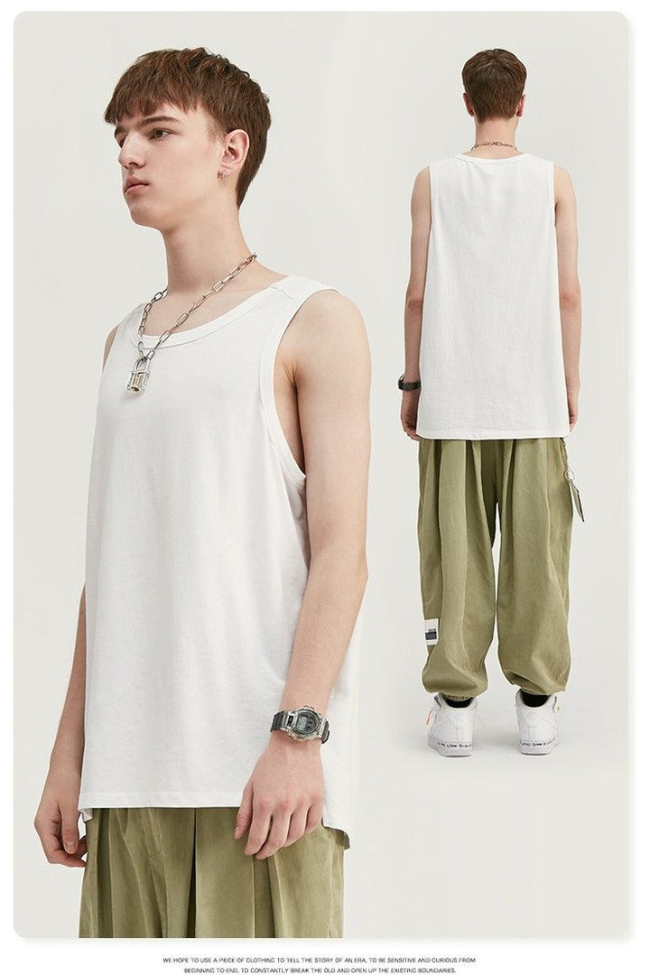 Hip Hop Bottoming Shirt Vest Simple Sleeveless - SKYCLUB