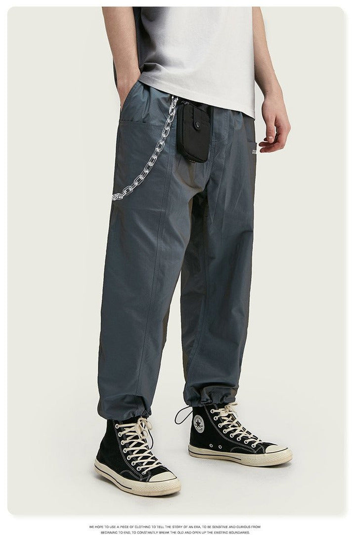 Drawstring Broadcloth Straight Jogger Pants